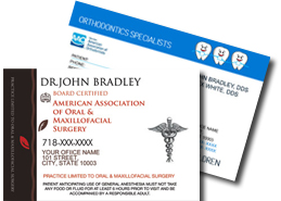 Dental referral-cards